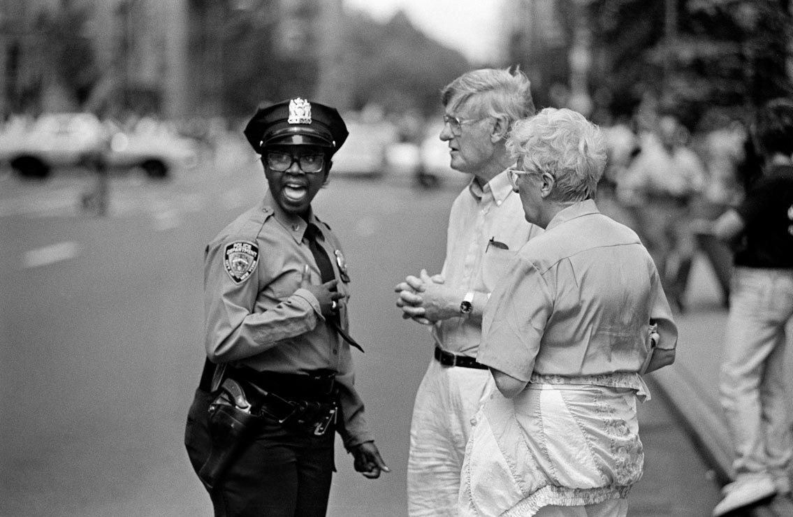 USA  New York City 1993 by Christian Schulz  Street Photography New York Police